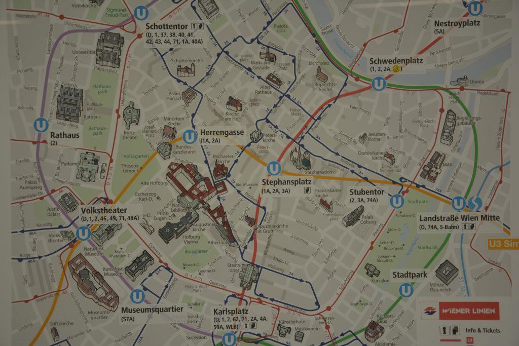 Şehir merkezi haritası