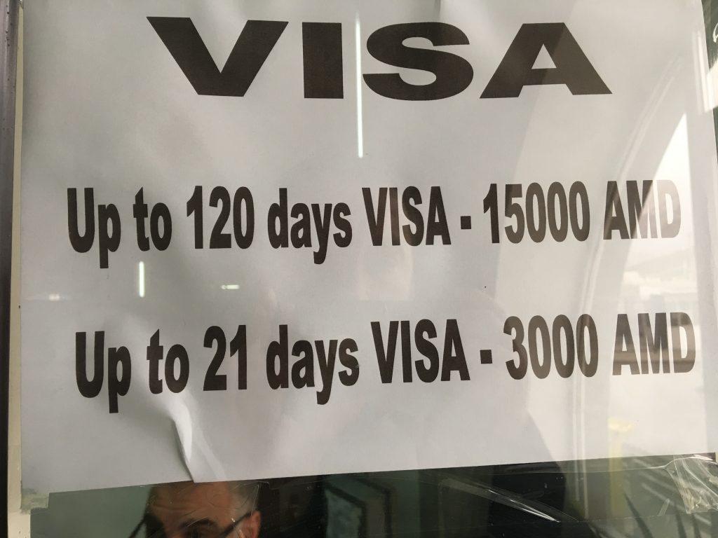 Ermenistan vizesi ücretleri camda yazdığı gibi