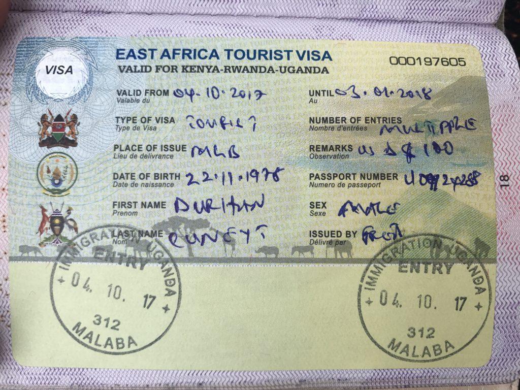 East Africa Visa - doğu Africa ülkelerini gezecekseniz almalısınız.