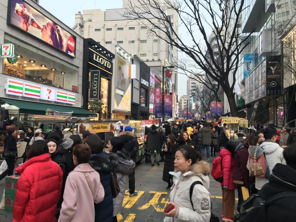 Seul gezilecek yerler - Myeong-Dong caddesi