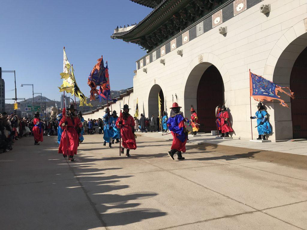 Seul gezilecek yerler - Gyeongbokgung sarayı nöbet değişim töreni