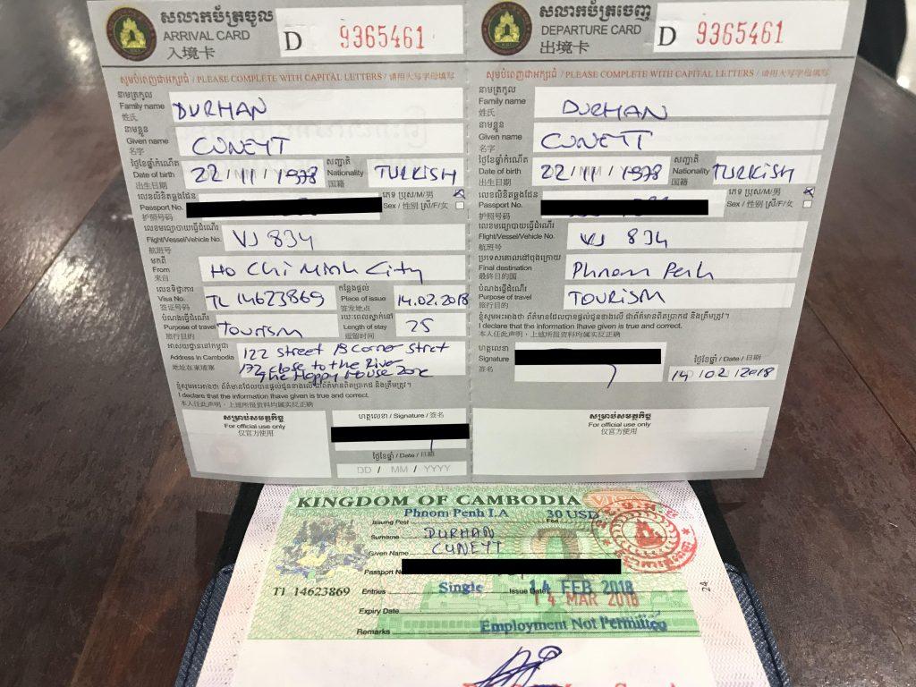 Kamboçya vizesi nasıl alınır - 30 dolar vize ücretiyle 10 dakikada vizeniz hazır